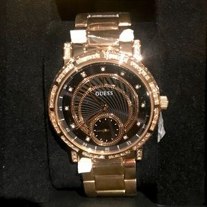 Brand New Rose Gold and Black Guess Watch